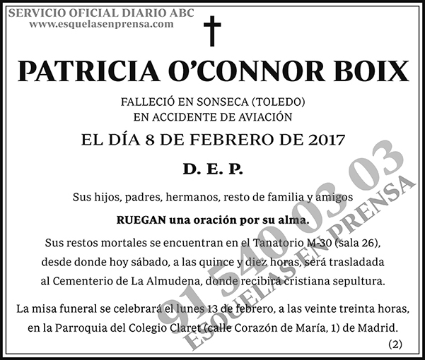 Patricia O'Connor Boix